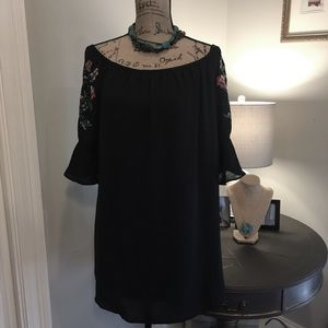 Adorable Black off the shoulder dress.NWOT